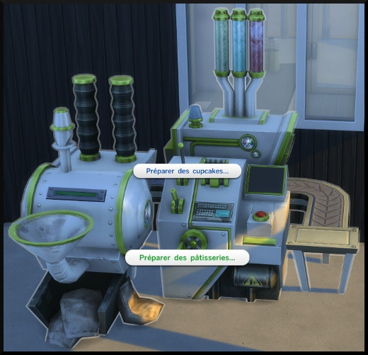 3 sims 4 au travail competence patisserie usine cupcakes interaction
