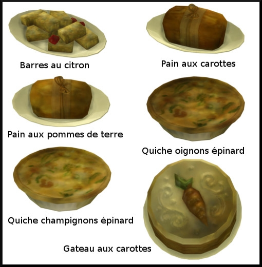 26 sims 4 au travail competence patisserie niveau 5 gateau pain carotte quiche epinard