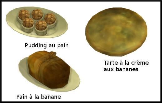 32 sims 4 au travail competence patisserie niveau 7 pudding arte pain banane