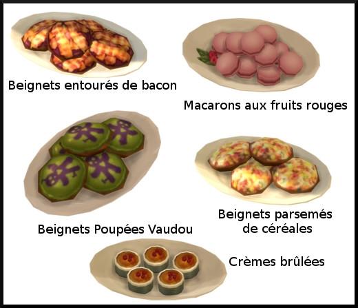 37 sims 4 au travail competence patisserie niveau 9 poupee vaudou macaron fruit rouge creme brulee beignet bacon beignet cereale