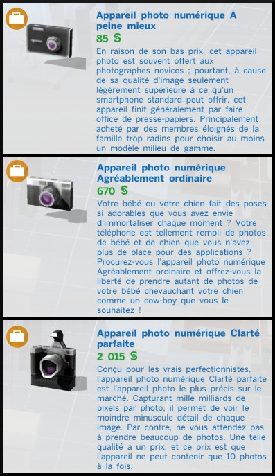 2 sims 4 photographie competence appareils photos mode achat prix