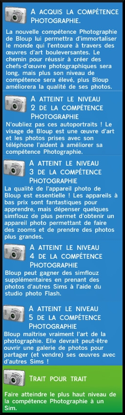 30 sims 4 photographie competence messages