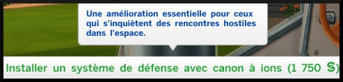 16 sims 4 competence fuseologie fusee systeme defense canons ion
