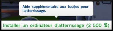 17 sims 4 competence fuseologie fusee ordinateur atterrisage