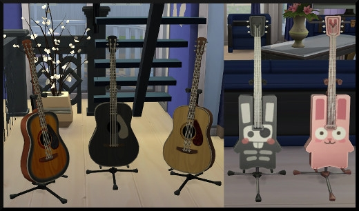 2 sims 4 competence guitare differents instruments