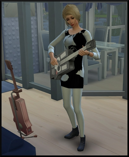 4 sims 4 competence guitare action jouer