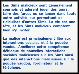 2 sims 4 competence malice description