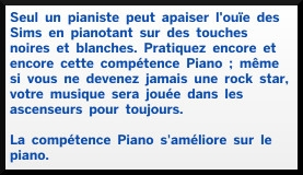 4 sims 4 competence piano description
