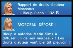 24 sims 4 competence piano droits auteur morceau composé