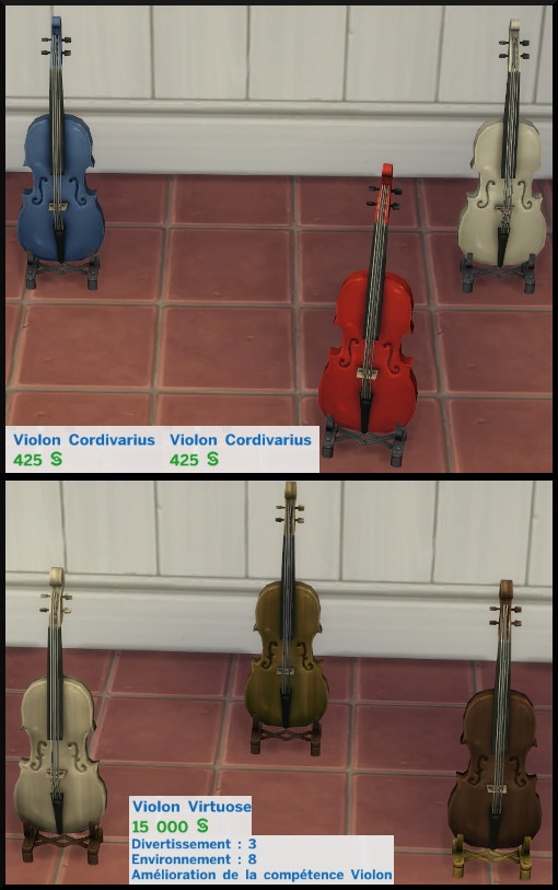 2 sims 4 competence violon type mode achat
