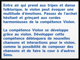3 sims 4 competence violon description