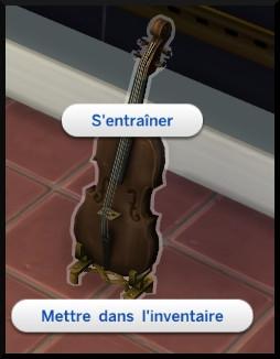 4 sims 4 competence violon s'entrainer