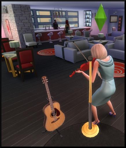 28 sims 4 competence violon jouer public bar