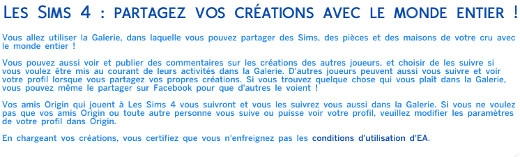 2  sims 4 dem create a sims creer un sims message partage galerie share galery