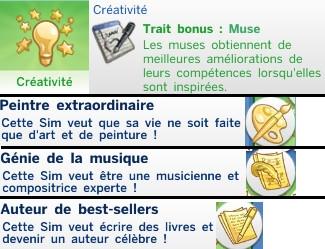 19  sims 4 dem create a sims creer un sims aspiration créativité