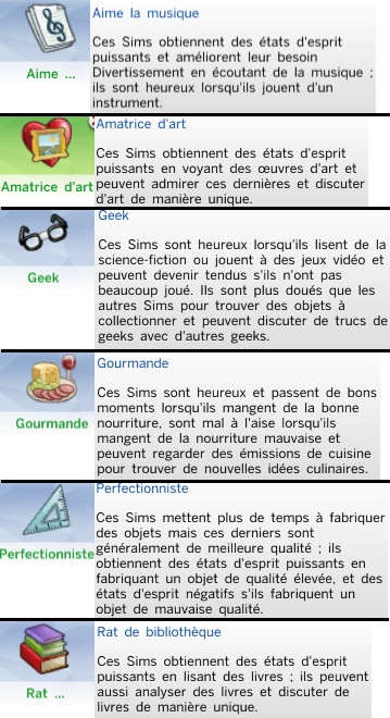 28  sims 4 dem create a sims creer un sims traits de caractere art