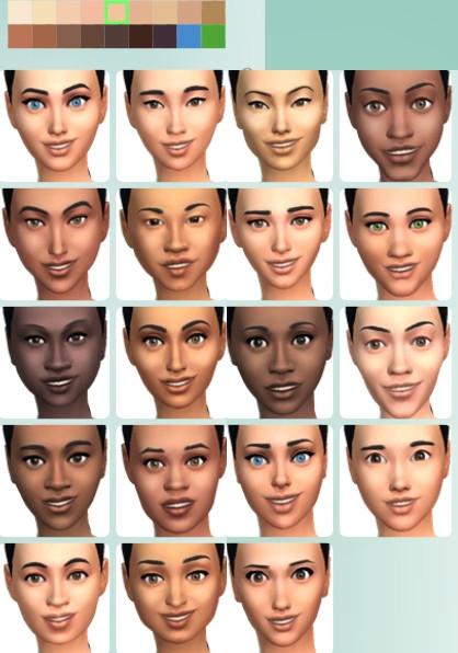 34  sims 4 dem create a sims creer un sims morphologie visage asiatique africain européen