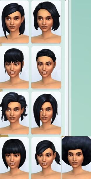 36  sims 4 dem create a sims creer un sims coiffure cheveux mi long