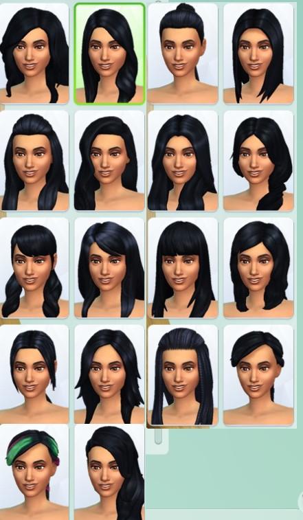 37  sims 4 dem create a sims creer un sims coiffure cheveux long