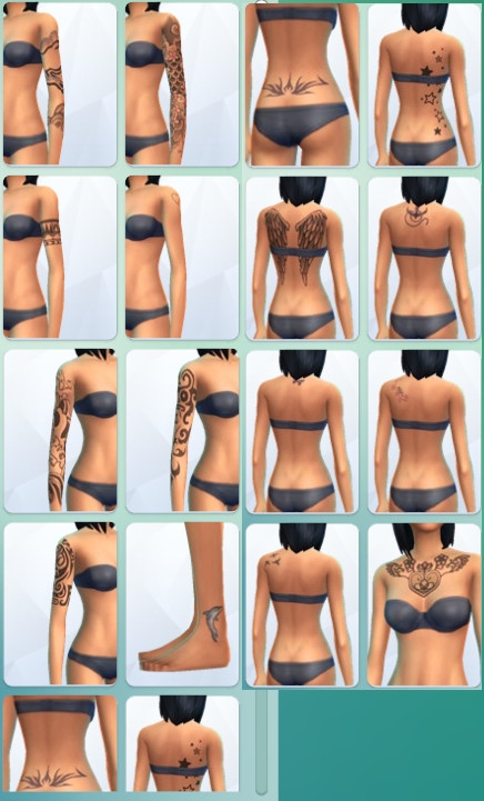 42  sims 4 dem create a sims creer un sims tatouage tattoo