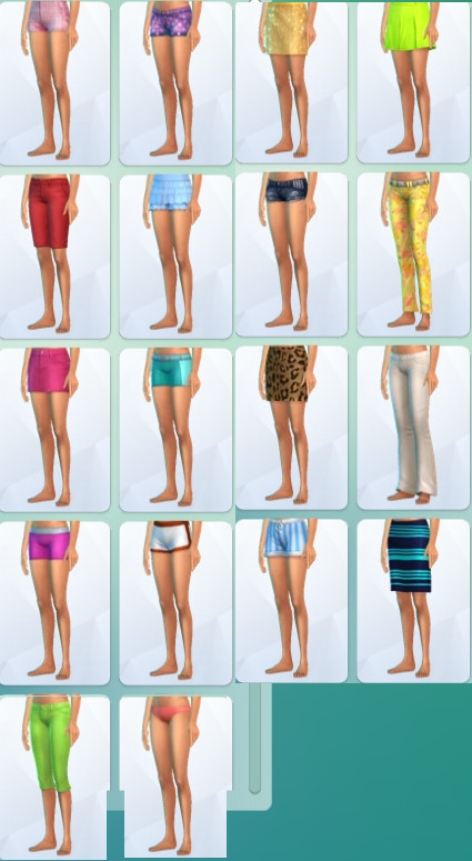 48  sims 4 dem create a sims creer un sims vetement jupe pantalon short