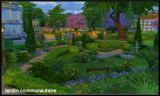 Sims 4 monde ville willow creek oasis spring for Sims 4 jardin romantico
