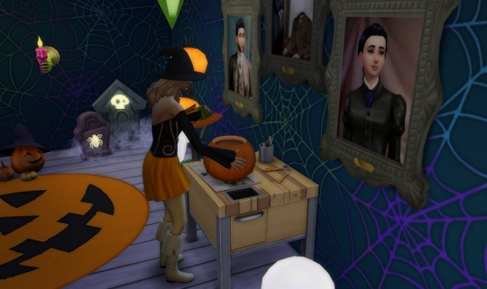 sims 4 kit objets effrayants halloween citrouille 1
