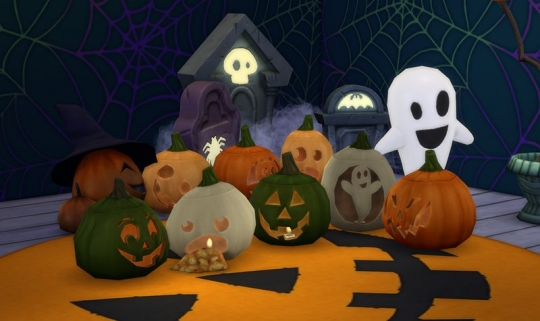 sims 4 kit objets effrayants halloween citrouille 2