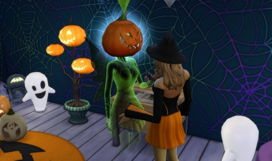 sims 4 kit objets effrayants halloween fantome citrouille