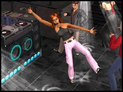 sims 2 fête joie discotheque danse