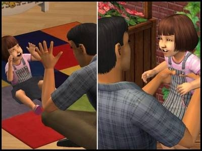 sims 2 bambin jeu rire famille petit