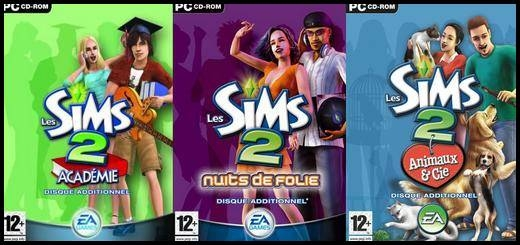 sims 2 add-ons inspires des sims 1
