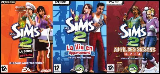 sims 2 add-ons nouveautes innovations