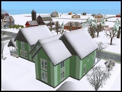 sims 2 saisons neige hiver maison toit paysage