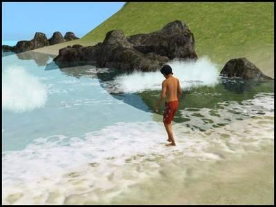 sims 2 bon voyage vacances mer plage vagues