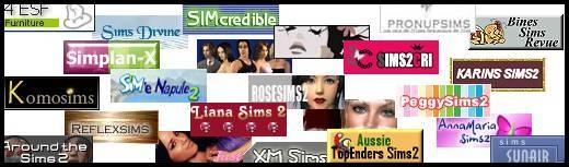 sims 2 sites creations contenu personnalisé téléchargements bannières boutons