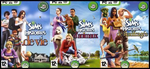 sims histoires de vie d'animaux de naufragés couvertures boîtiers jeu vidéo