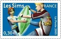 sims 2 timbre poste française jeu vidéo