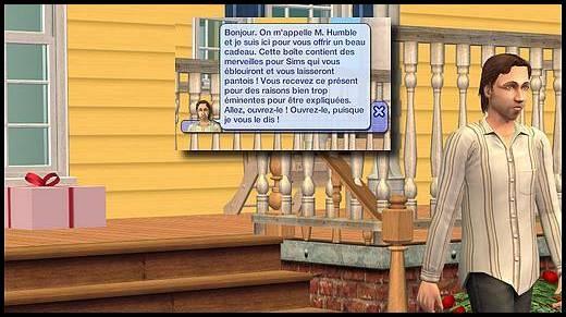 sims 2 Mr Humble annonce sims 3 cadeau ordinateur