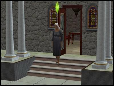 olivia chimère zarbville vue en pied chez elle