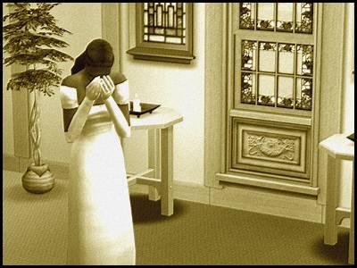 zarbville sims 2 olivia chimère souvenirs jeunesse abandon devant l'autel