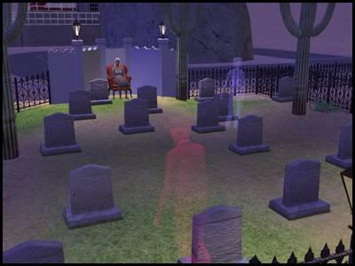 zarbville sims 2 olivia chimère cimetière fantômes nuit rôdent