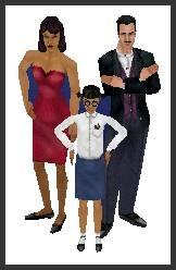 1 famille gothik dans les sims 1