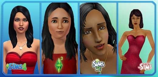 2 famille gothik evolution sonia gothik sims 1 sims 2 sims 3 sims 4 robe rouge