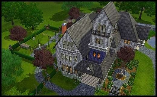 6 famille gothik sims 3 sunset valley manoir des gothik