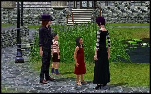 7 famille gothik sims 3 sunset valley gunther cordelia vladimir sonia galantome