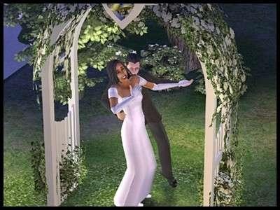 12 famille gothik sims 2 montsimpa mariage sonia vladimir arche fleurie