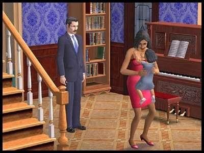 13 famille gothik sims 2 montsimpa sonia vladimir sandra bambin souvenir piano bibliotheque