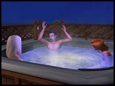 18 sims 2 montsimpa don lothario dina nina caliente soeurs bain remous eau ensemble trio séducteur séductrices