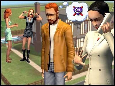 famille simpa image sims 2 couple mésentente jumelles adolescentes dispute